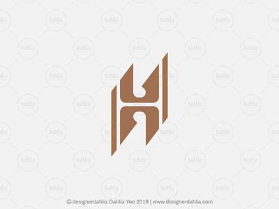 Sharp Letter H Logo letter mark logos brand identity letter h logo elegant letter h logo for sale branding logo design letter logo letter mark lettermark sharp letter h letter h monogram initials