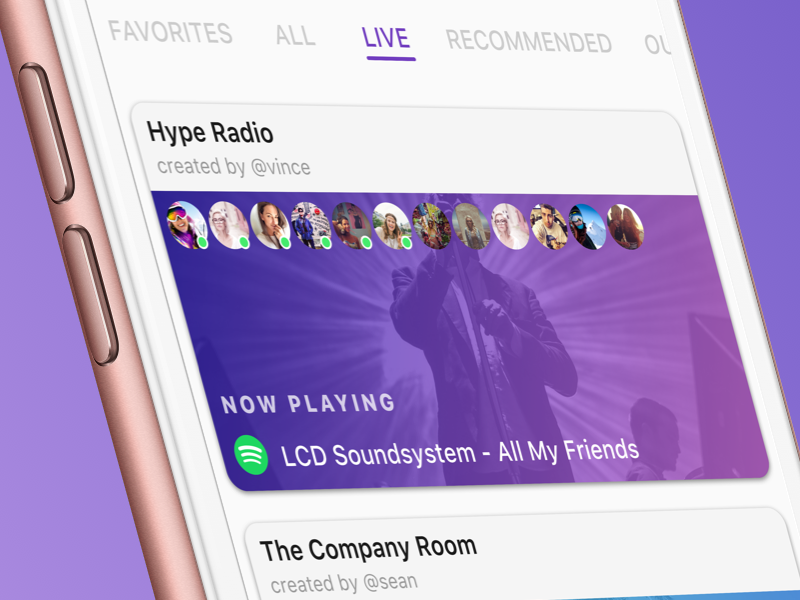 Live Rooms! ios app social chat cards airtime