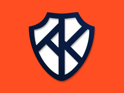 AK Logo shield armor warrior logo