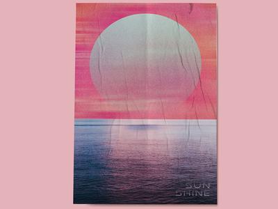 Sun + Ocean Blue Poster