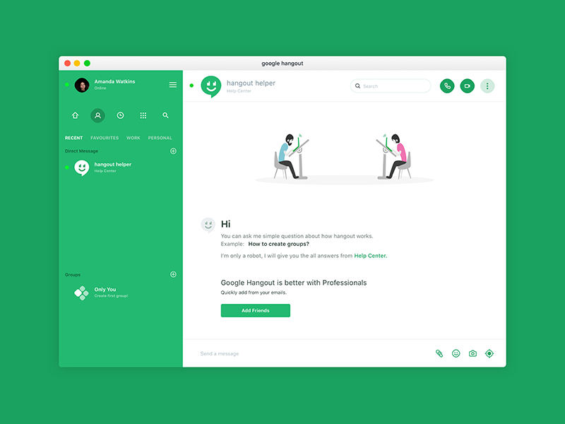 Hangout helper by Sourav Maity ℠ on Dribbble