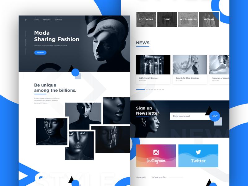 Moda - Sharing Fashion Landing Page