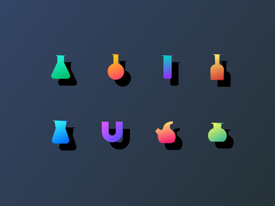 Science Icons tube test science illustration icon lab focus education chemistry bubbbles beaker