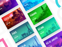 Trips App - Location Carousel Cards Exploration
