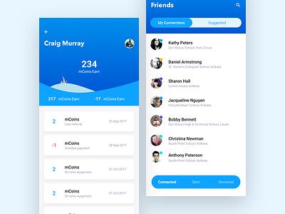 mPokket App screens iphonex web ux ui style mobile student loan money app