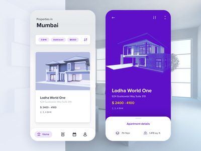Properties To Buy real estate android app list ui agent housing apartment house sell buy property vector isometric illustration material design app ios mobile ux ui
