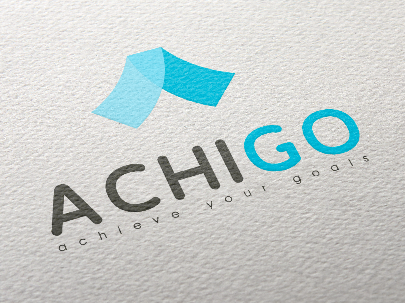 Achigo company Logo typography illustrator website ux icon logo design ui branding vector illustration