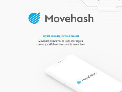 Movehash Logo design branding web app ux ui website design logo vector illustration