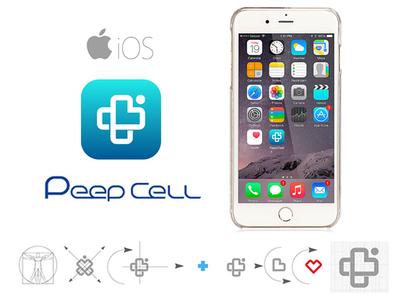 Peep Cell Logo design logotype web website app ui ux icon illustrator logo vector illustration design