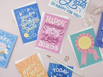 Art Licensing Greeting Cards hand lettering art graphic design digital illustration typography birthday card anniversary card illustration hand lettering art licensing lettering artist greeting card design