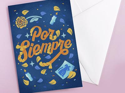 Sympathy Card Design lettering hand lettering typography digital illustration lettering artist illustration surface design art licensing greeting card sympathy card