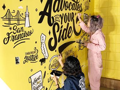 Lettering Office Mural hand lettering art digital illustration lettering artist corporate mural wall art painting digital art icon illustration type design office mural lettering mural mural art mural mural artist