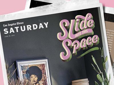 LA Times Cover - Lettering Design cover design spot illustration typography inspired digital illustration digital art hand lettering editorial design editorial illustration editorial