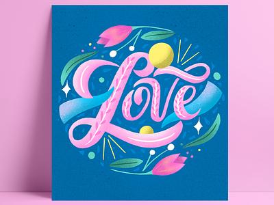 Love illustration art floral art graphic design drawing digital drawing artist typography design digital illustration digital art lettering lettering artist illustration