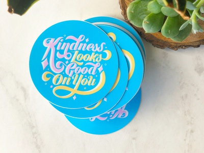 Kindness Stickers stickers type art procreate hand lettering art graphic design typography hand lettering digital illustration digital art lettering artist illustration