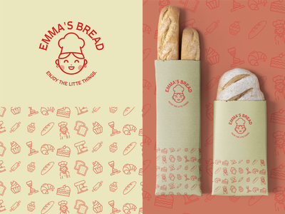 Emma's bakery branding food branding food logo package design bakery branding bakery logo brand identity identity design identity branding identitydesign branding design logodesign logo mark logo designer illustrator design minimal graphic design branding logo design logo