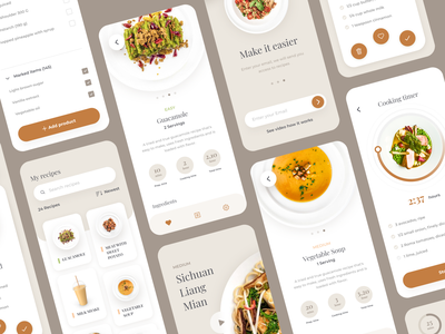 Meal Cooking Time App 🍳 uiux uidesign mobile ui mobile app design design mobile app ui ux mobile design mobile