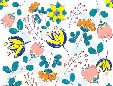 cute floral pattern fabric design cute pattern flower pattern nature clipart pattern branding flower illustration flower vector illustration design art