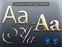 Real gold letter effect for Photoshop