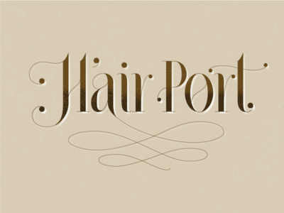 Hair Port logo design