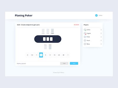 Planning Poker Concept ux dailyui web design ui