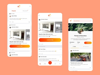 Aloveci App design feed mobile ui
