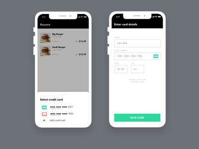 Credit Card Checkout Form ux design ui form creditcard