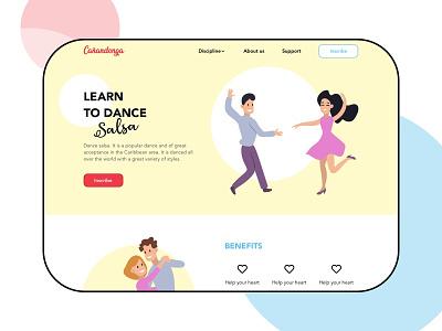 Landing Page - Learn to dance Salsa illustration web dailyui ui design dance cali salsa landing