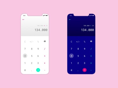 Calculator design dailyui ui calculator app calculator ui number calculator