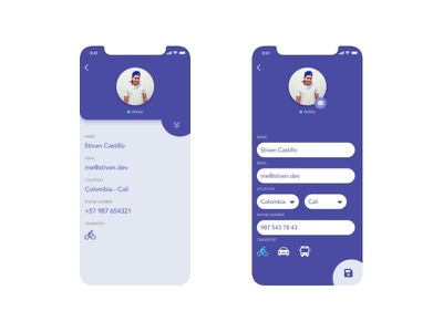 User Profile user interface dailyui ui design userinterface edit profile user
