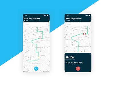 Location Tracker - DailyUI 020 location app location tracker location dailyui design ui