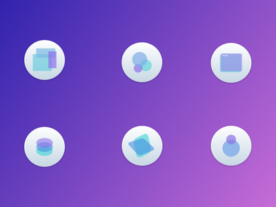 Developer Experience Icons purple icons developer experience dx