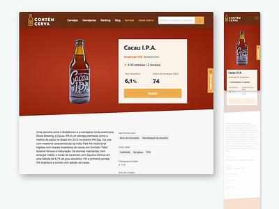 Contém Cerva beer artisanal