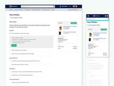 Orders Helpdesk order management e-commerce ux design