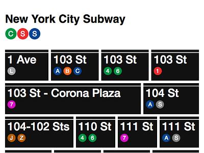 MTA CSS ui react mta css subway nyc