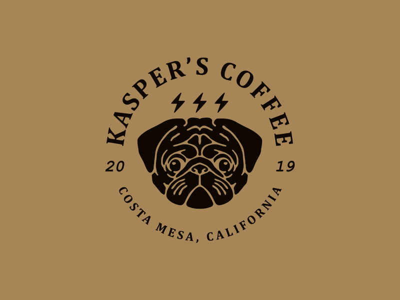 Kasper's Coffee Logo illustration vector design branding logo