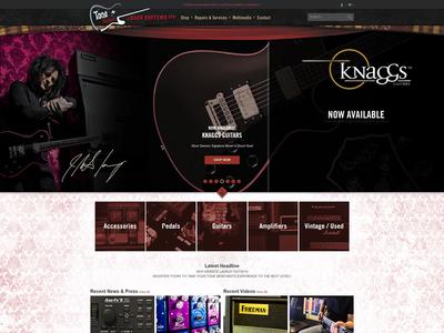 Tone Merchants responsive categories blog website layout music comp design tone merchants