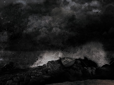 Storm Album Art allele water cd album dark layout boat storm clouds