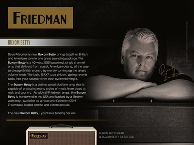 Friedman Ad magazine print layout photography advertisment ad friedman