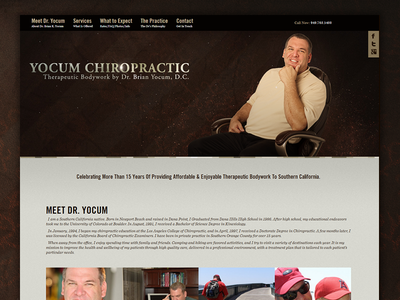 Chiropractic Homepage massage lifestyle medical health chiropractic interface ux ui layout