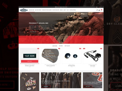 Bradleys Concept 1 military landing page user interface website web design web ux ui daily ui clean
