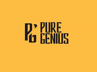 Pure Genius logo typography