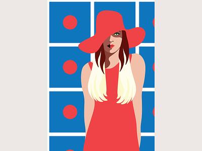 Polka Dot - fashion illustration woman logo woman illustration magazine illustration magazine vector art illustration fashion illustration fashion design