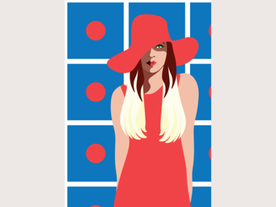Polka Dot - fashion illustration