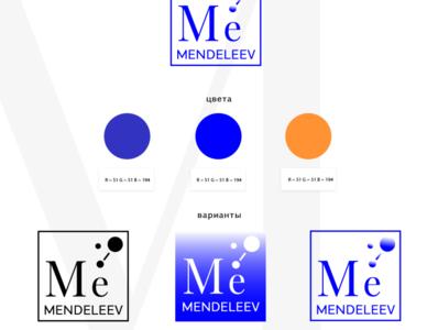 Logo presentation for the school Mendeleev