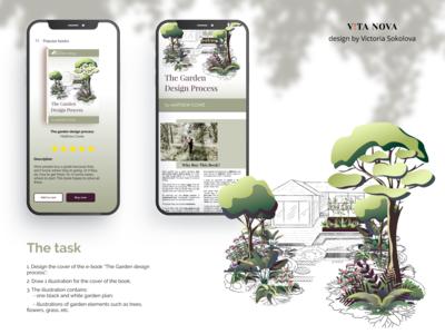 Illustration to the Garden design book