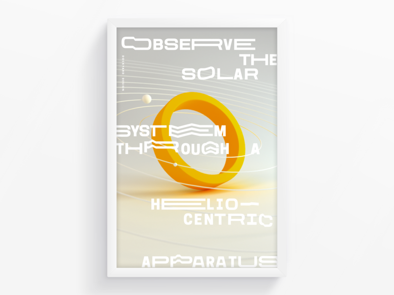 O letter o yellow poster art typography type poster graphic  design 3d
