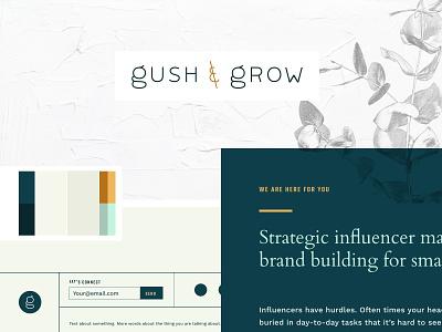 Gush & Grow - Brand Concept Moodboard concept design organic natural lush branding design logo marketing influencer concept branding