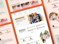 National Kidney Foundation - Homepage Design non-profit web design energetic bright medical redesign homepage website