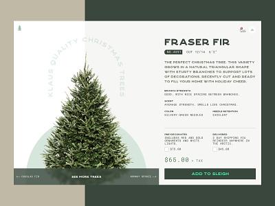 Christmas Tree Website web design santa holidays scandinavian product page tree christmas